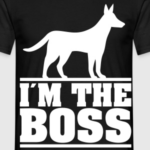 I am the boss Logo for dog owners. Dogs T-Shirts - Men's T-Shirt
