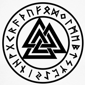 Valknut I Wotan's Knot I Runes I Odin I Long sleeve shirts - Men's Long Sleeve Baseball T-Shirt