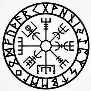 Vegvisir I  Futhark I Runes I Navigator I  Long sleeve shirts - Men's Long Sleeve Baseball T-Shirt