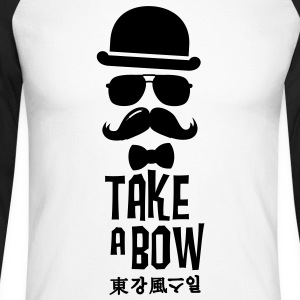 Like a swag bow tie moustache style boss t-shirts Long sleeve shirts - Men's Long Sleeve Baseball T-Shirt