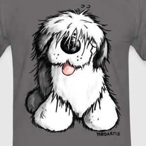 Bobbie Bobtail - Old English Sheepdog - Männer Kontrast-T-Shirt