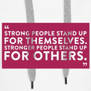 Quote Strong People (1c)++2012 Sweatshirts - Dame Premium hættetrøje