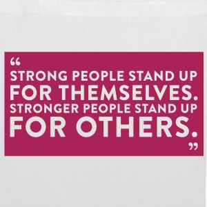 Quote Strong People (1c)++2012 Sacs - Tote Bag