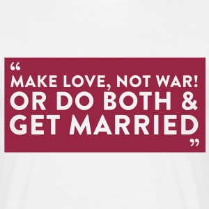 Quote Get Married (1c)++2012 Tee shirts - T-shirt Homme