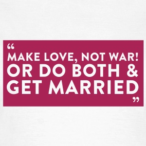 Quote Get Married (1c)++2012 T-shirts - T-shirt dam
