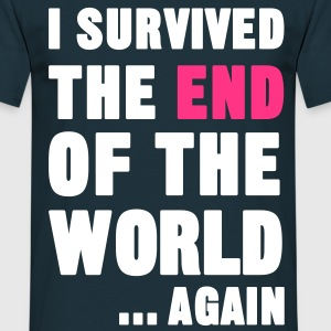 I Survived the End of the World T-Shirts - Men's T-Shirt