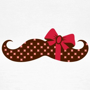 A mustache with a gift ribbon T-Shirts - Women's T-Shirt