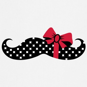 A mustache with a gift ribbon  Aprons - Cooking Apron