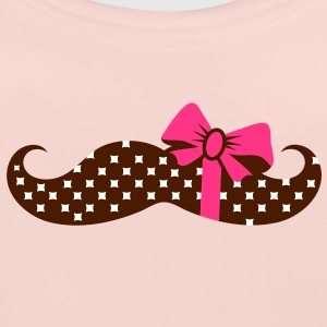 A mustache with a gift ribbon Accessories - Baby Organic Bib