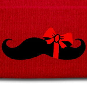 A mustache with a gift ribbon Caps & Hats - Winter Hat