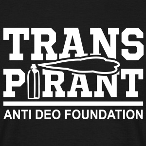 TRANSPIRANT - ANTI DEO FOUNDATION Fun T-Shirt WB - Mannen T-shirt