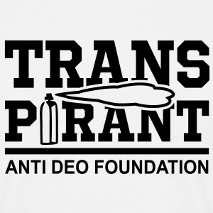 TRANSPIRANT - ANTI DEO FOUNDATION Fun T-Shirt BW - Maglietta da uomo