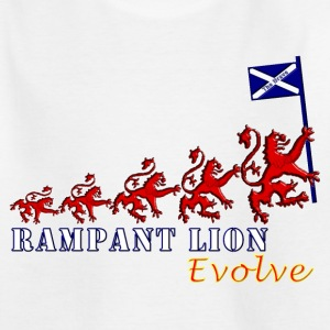 Rampant Lion Evolution Scotland Shirts - Teenage T-shirt