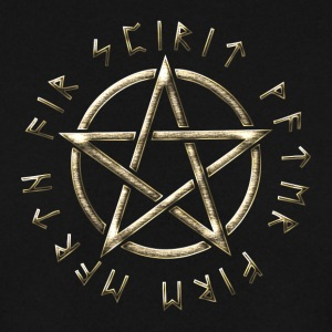 Runic Pentacle, pentagram, protection, runes Hoodies & Sweatshirts - Men's Sweatshirt