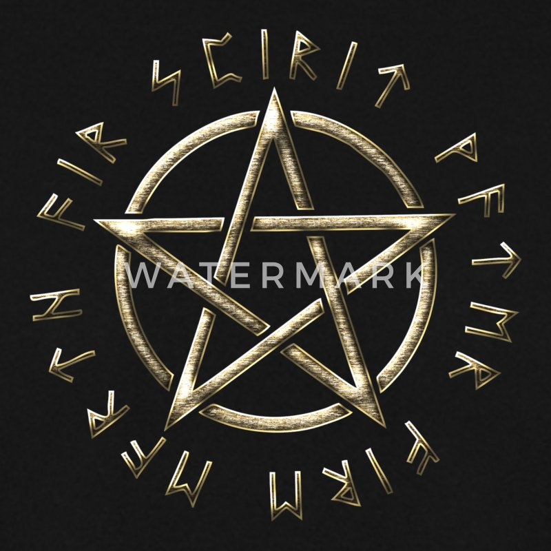 Runes pentagram, pentacle, protection, paganism Sweat-shirts - Sweat-shirt Homme