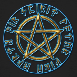 Runes pentagram, pentacle, protection, Talisman T-Shirts - Men's Organic T-shirt