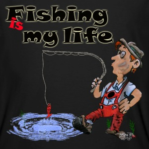 Fishing is my life T-Shirts - Männer Bio-T-Shirt