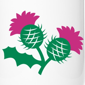 scottish thistle flower with two heads Bottles & Mugs - Travel Mug
