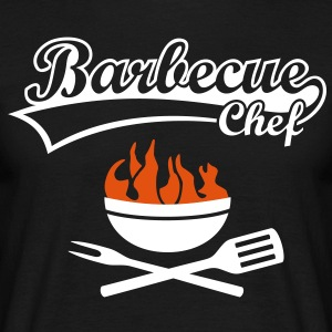 Barbecue Chef Grill Master Grilling BBQ Fire Shirt - Men's T-Shirt