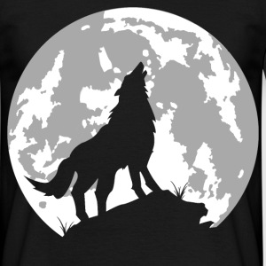 loup lune - T-shirt Homme