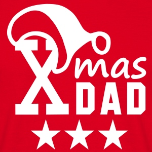 Xmas DAD 3 Star T-Shirt - Herre-T-shirt