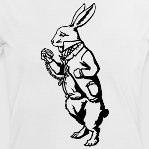 Lapin blanc Alice Tee shirts - T-shirt contraste Femme