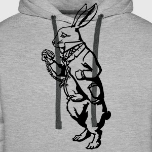 Lapin blanc Alice Sweat-shirts - Sweat-shirt à capuche Premium pour hommes