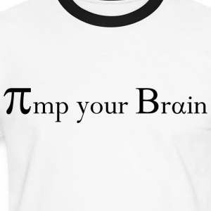 Pimp your Brain Shirt PI - Männer Kontrast-T-Shirt