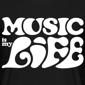 Music is my life. Musik är mitt liv. T-shirts - T-shirt herr