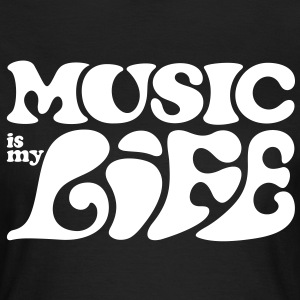 Music is my life. Musik er mit liv. T-shirts - Dame-T-shirt