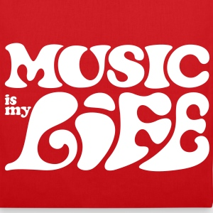 Music is my life. Borse - Borsa di stoffa