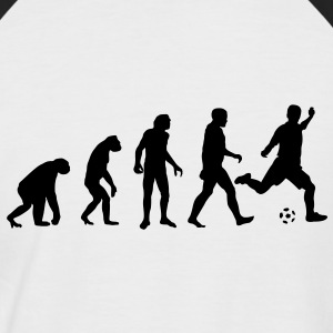 Evolution Fussball - football - Männer Baseball-T-Shirt