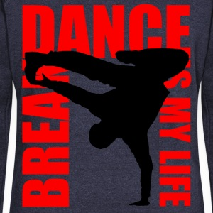 break dance is my life Hoodies & Sweatshirts - Women's Boat Neck Long Sleeve Top