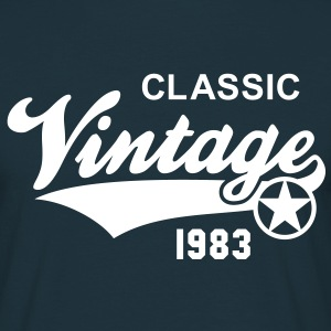 Classic Vintage 1983 Birthday Geburtstag 30th T-Sh - Men's T-Shirt