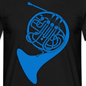 blue french horn | unisex shirt - Männer T-Shirt