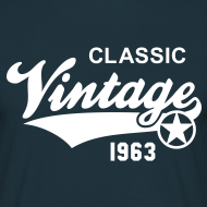 Motiv ~ Classic Vintage 1963 Birthday Geburtstag 50th T-Shirt