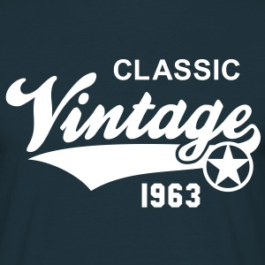 Classic Vintage 1963 Birthday Geburtstag 50th T-Sh - Men's T-Shirt