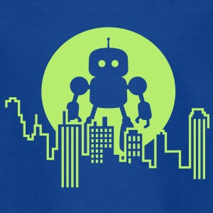 Robot City Skyline Shirts - Kids' T-Shirt