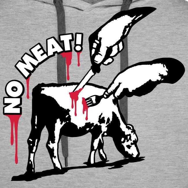 Mens Hoodie 'NO MEAT!'