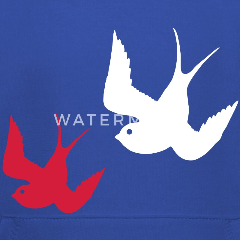 Tattoo Swallows Design Oldschool Birds Freedom Felpe - Felpa con cappuccio Premium per bambini