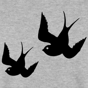 Tattoo Swallows Design Oldschool Birds Freedom Tröjor - Herrtröja
