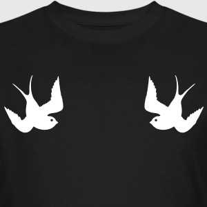 Tattoo Swallows Design Oldschool Birds Freedom Tee shirts - T-shirt bio Homme