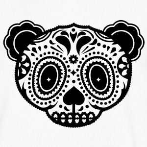 A panda bear head in the style of Sugar Skulls  T-Shirts - Men's V-Neck T-Shirt