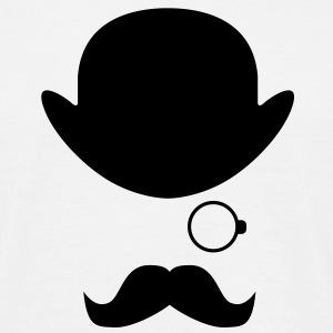 Bowler Hat Bow tie moustache - Men's T-Shirt