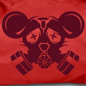 A gas mask with big mouse ears Bags  - Duffel Bag