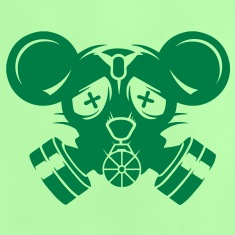 A gas mask with big mouse ears Shirts