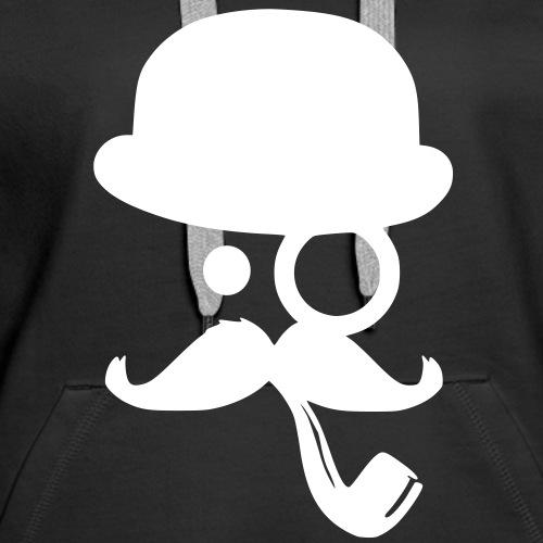 Moustache mit Pfeife und Hut