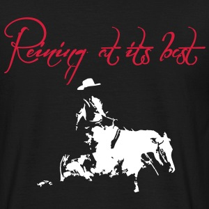 Reining at its best Sliding Stop Horse Silhouette  T-Shirts - Männer T-Shirt