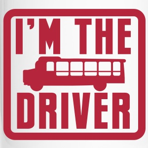 I'm the BUS DRIVER with a bus in a square Bottles & Mugs - Travel Mug