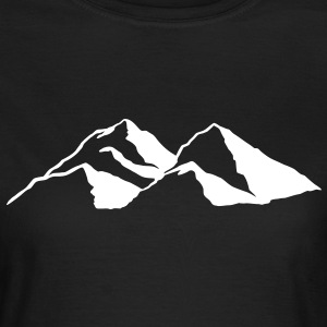 Montagne sports d'hiver snowboarding Tee shirts  - T-shirt Femme